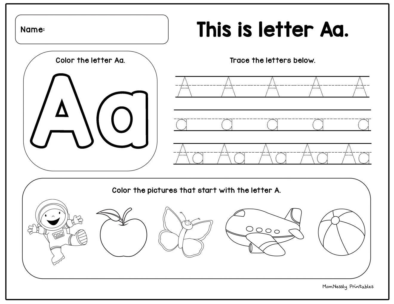 Printable Alphabet Tracing Set In