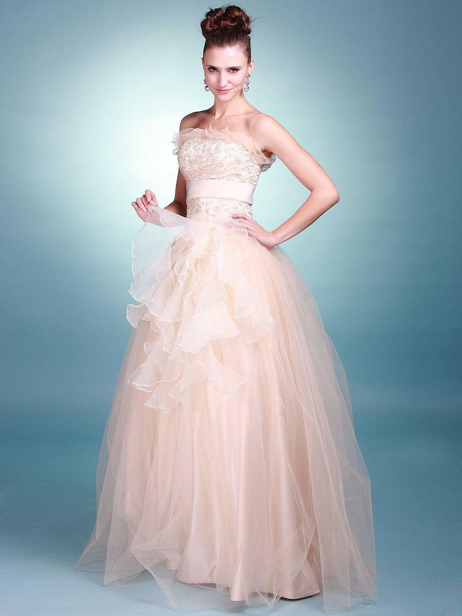 Ruffled Skirt and Bodice Princess Wedding Dress | wedding - dreamy ...