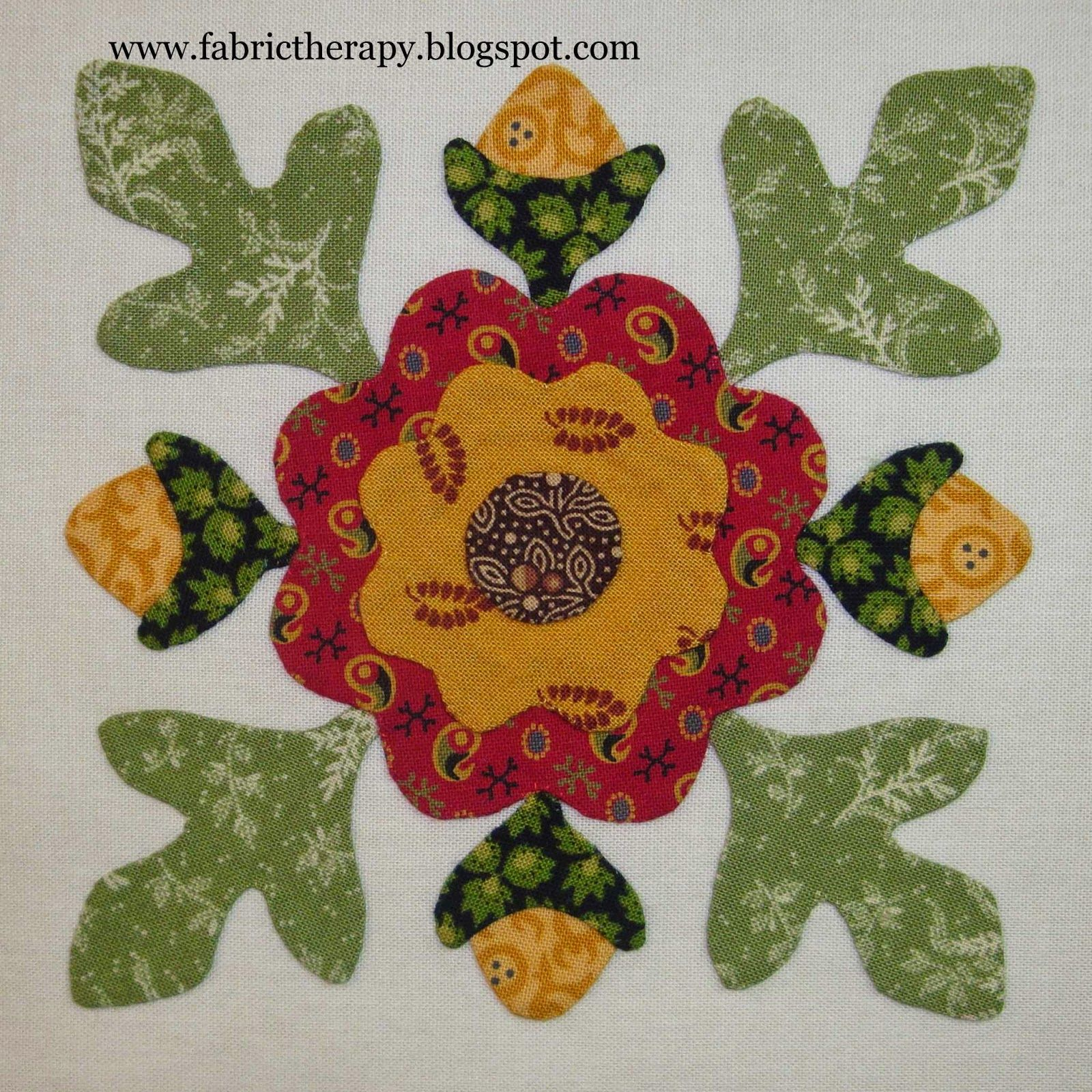 I have managed to finish 8 more little hand applique blocks from ...
