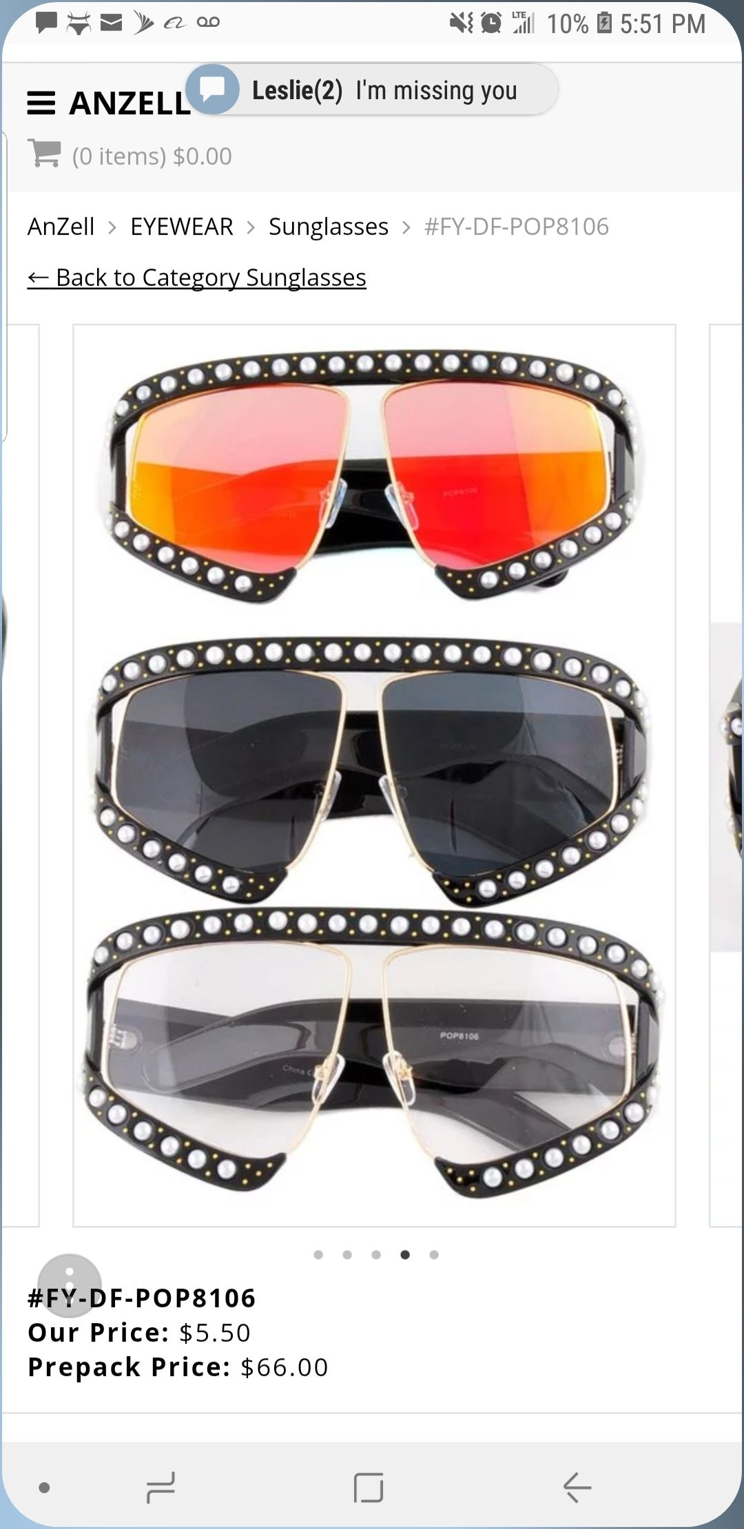 447528bfb7cae Rectangular-Frame Acetate Sunglasses With Pearls