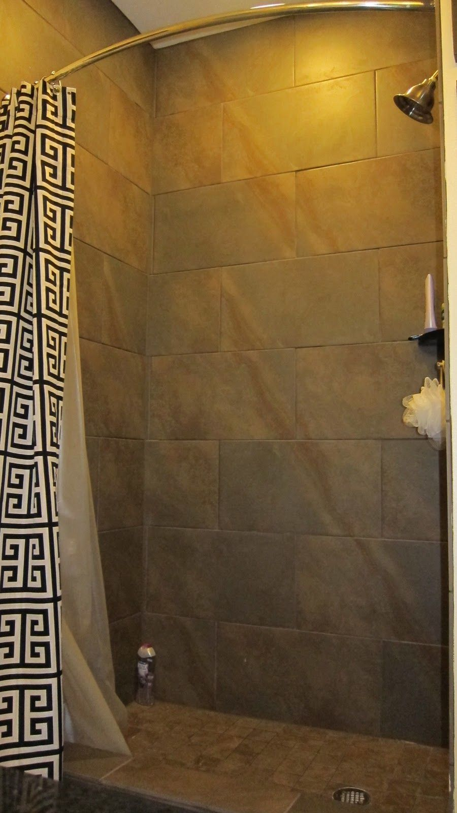DIY Week: Make a Shower Curtain ... - New shower stall curtains...OR ...