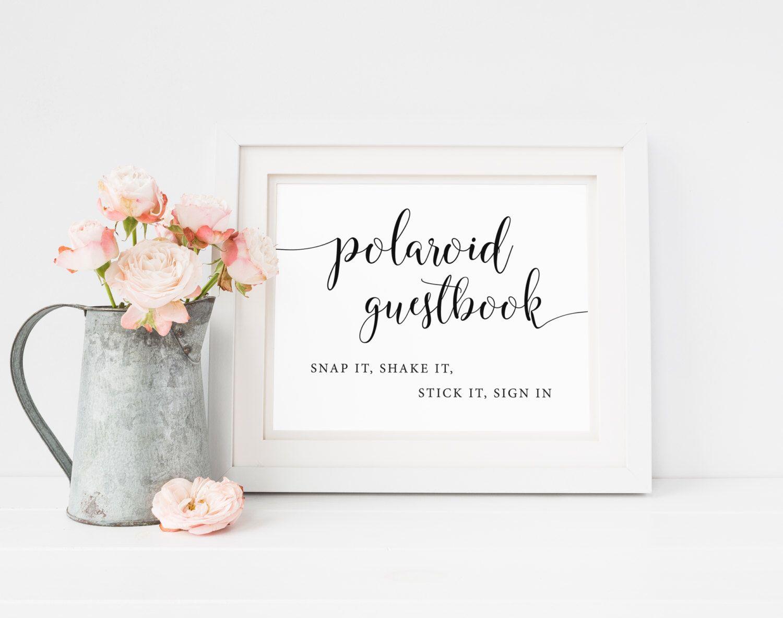 Polaroid Guestbook Sign Polaroid Wedding Polaroid Guest