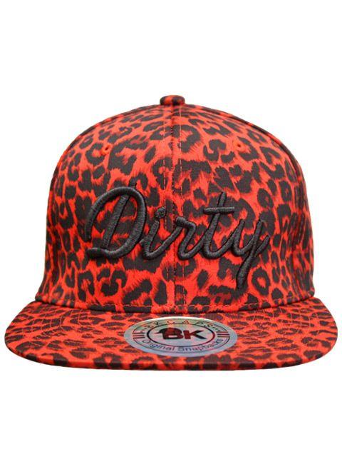 Leopard Red Snapback | I Love Dirty Girls Clothing, LLCI Love Dirty Girls Clothing, LLC