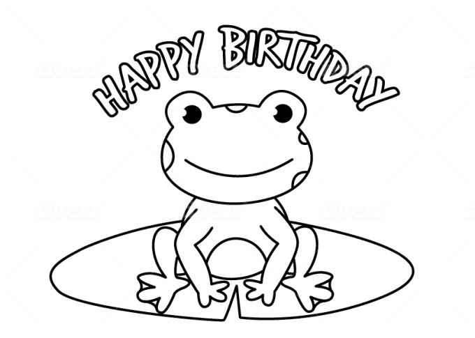 Hoangnhu13 I Will Design Printable Coloring Pages For Children Book For 5 On Fiverr Com Birthday Coloring Pages Printable Coloring Pages Frog Coloring Pages