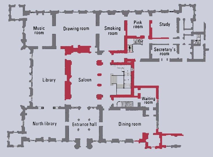 England The Real Highclere Castle Ground Floor Castle Floor Plan Highclere Castle Floor Plan Highclere Castle Interior