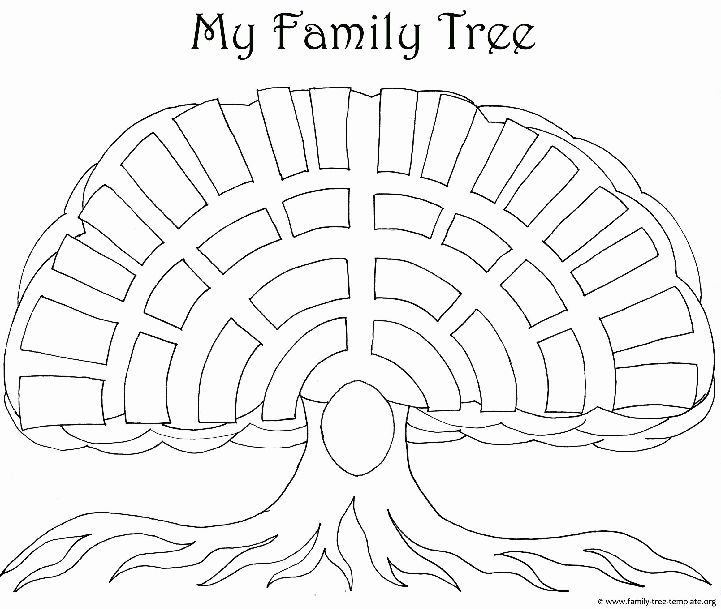 Family Tree Coloring Page for Kids Pics Family Tree Templates ...