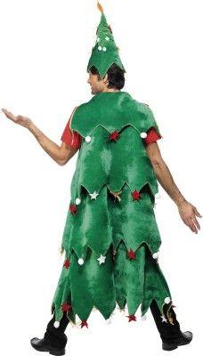 disfraz de arbol de navidad con fieltro