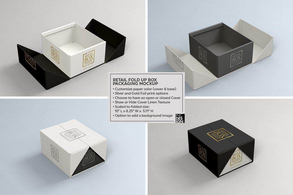 Download Fold Up Retail Box Packaging Mockup Packaging Template Design Luxury Packaging Design Box Packaging Design
