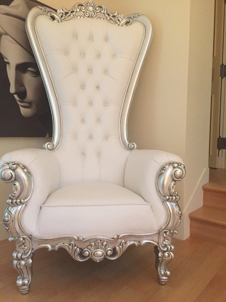 Absolom Roche Chair - Silver & White Leatherette - Client Photo ...