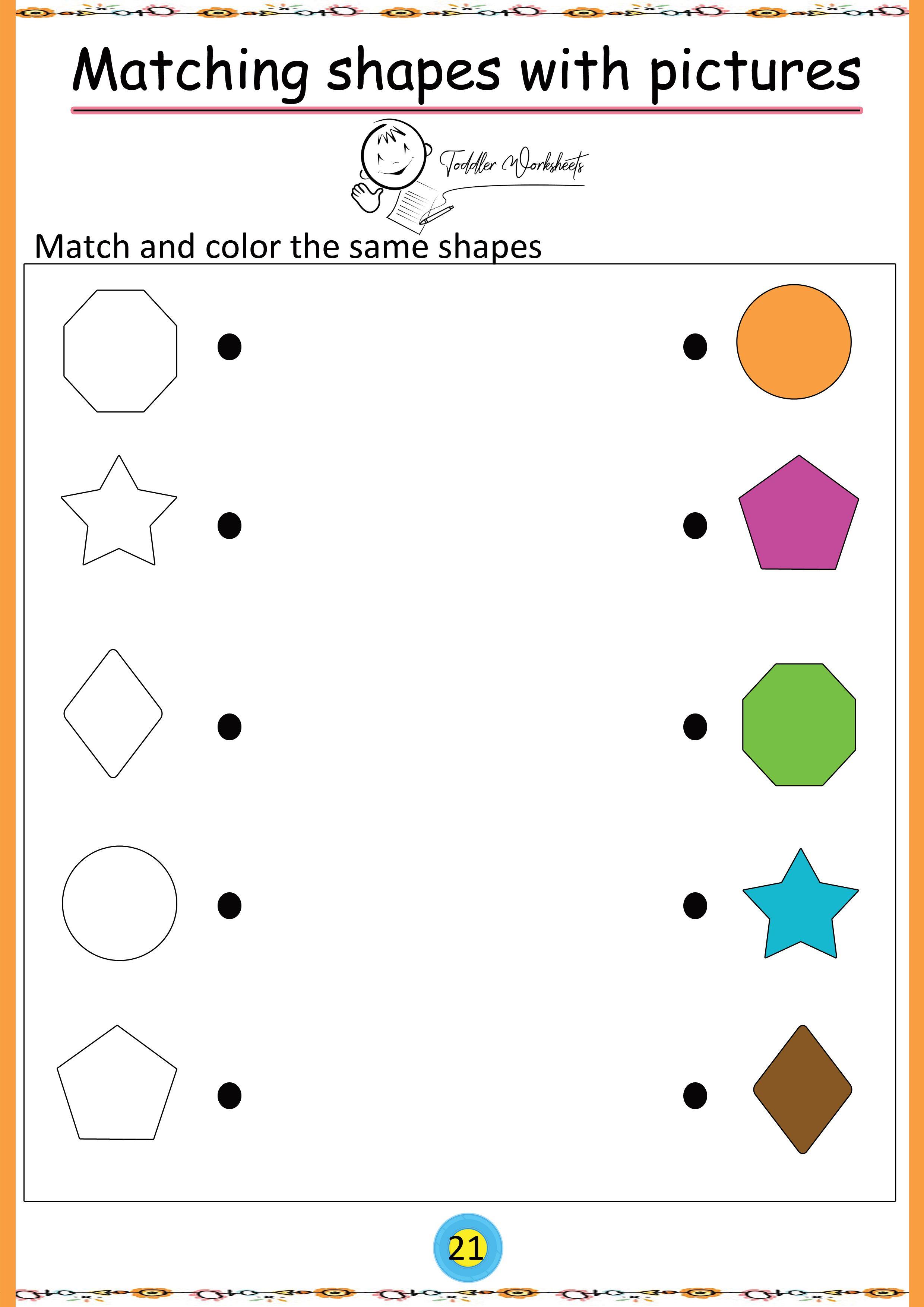 free preschool shapes worksheets Shapes worksheets