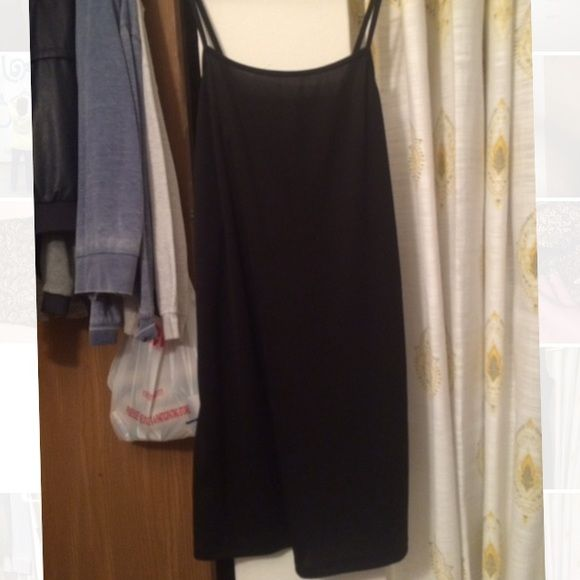 Black Slip Dress No tags-I forget where I got it. I think it came with an American Eagle dress. Definitely size S. Plain black, nylon type material, smooth. Hits above knee. Intimates & Sleepwear Chemises & Slips