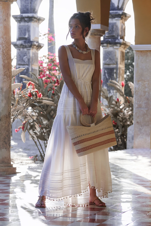 Daya Square Neck Midi Dress White White Cotton Maxi Dress Maxi Dress Cotton Cotton Maxi Dress Summer [ 1500 x 1000 Pixel ]