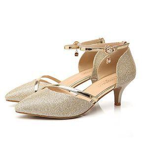 Mujer Zapatos Cuero Sintético Primavera verano Confort Sandalias Tacón Cuña Dorado / Plateado / Fiesta y Noche gnFnZ7