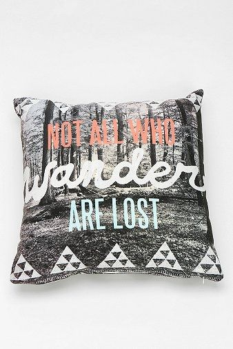 Wesley Bird For DENY Wander Pillow   Nor all who wander are lost