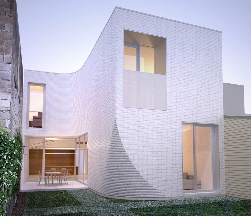 Curved Corner House | Thomas Balaban Architecte | Montréal, Québec
