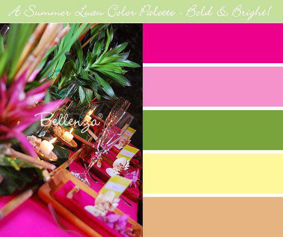 Summer Color Palettes for Outdoor Weddings Pinterest Summer