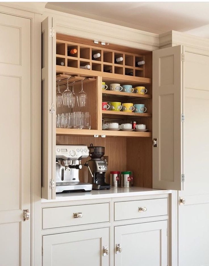 Coffee Bar In Kitchen Appliance Garage
