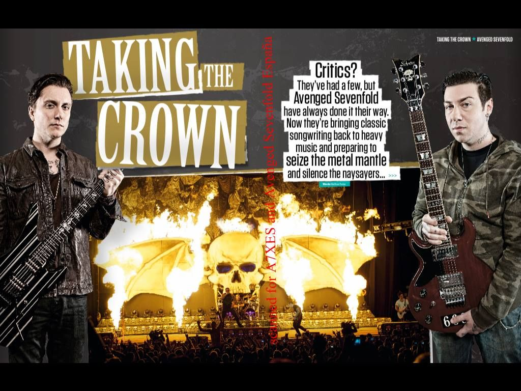 Total Guitar, octubre 2013 (avenged sevenfold a7x synyster gates zacky vengeance)