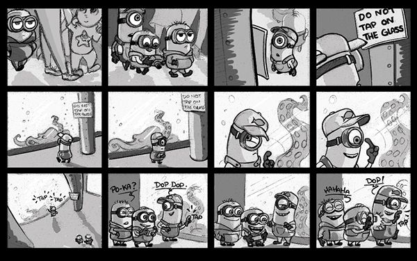 Minions Storyboard Storyboard Animation Film The Simpsons Movie