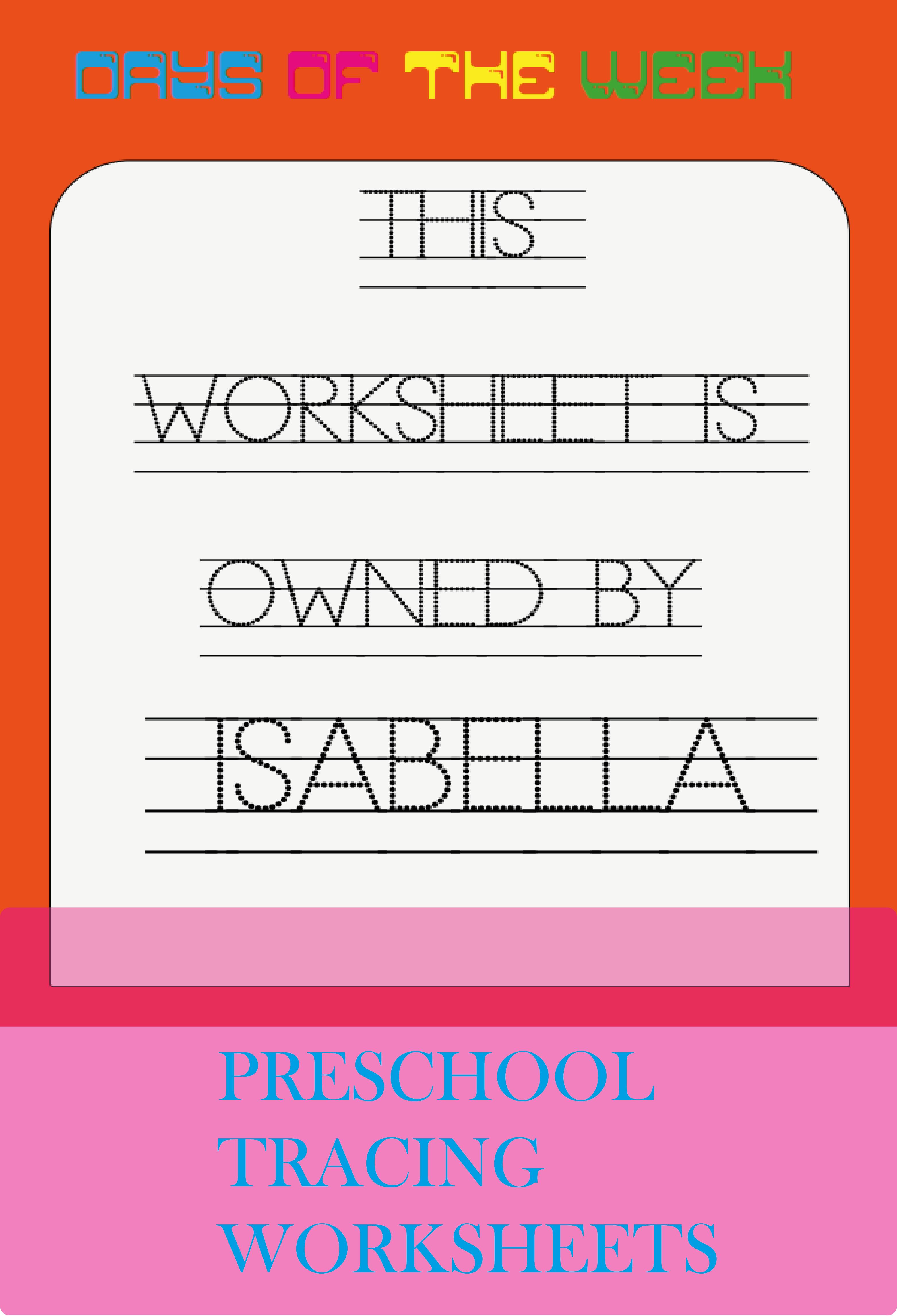 Trace Of The Week Worksheet Customizable Worksheets And Etsy Tracing Worksheets Tracing Worksheets Preschool Worksheets [ 4584 x 3125 Pixel ]