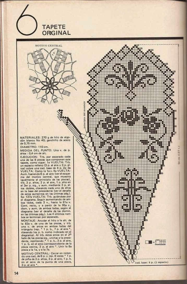 Patrón de Mantel | ganchillo | Pinterest | Patrones de mantel ...