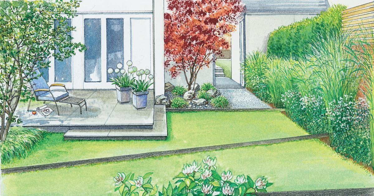 Ein Doppelhaus-Garten im neuen Gewand - reihenhausgarten vorher nachher