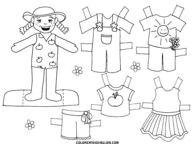 Muñecas Para Colorear Búsqueda De Google Paper Dolls Coloring Pages Kids Art Projects