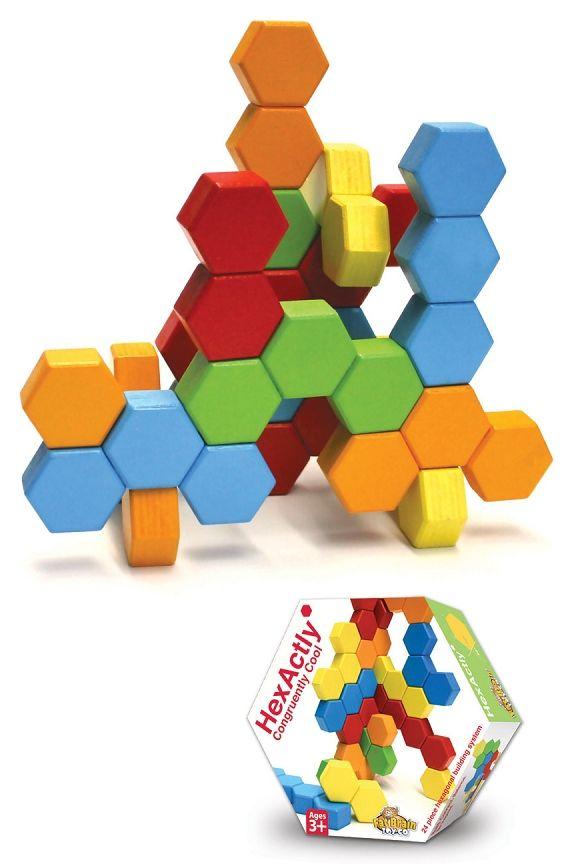HexActly | Good Stuff For Kids | Hexagon shape, 24 blocks, Toys