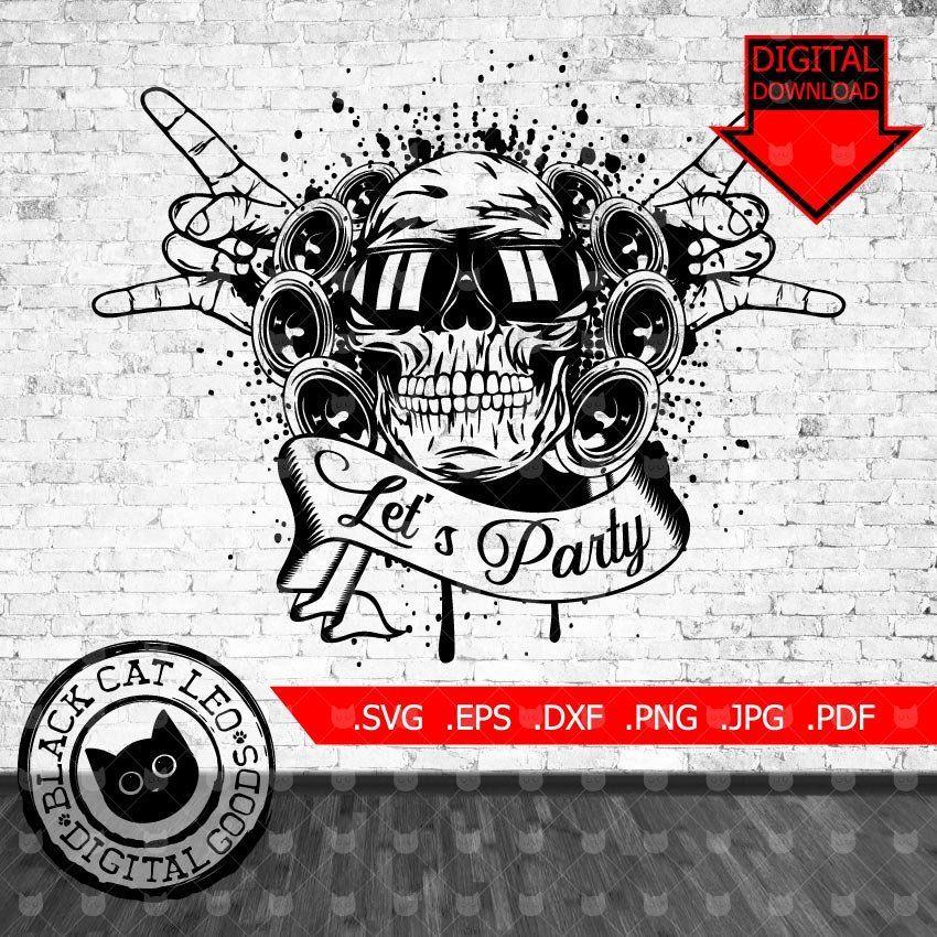Hard Punk Rock Roll Vector Grunge T Shirt Tattoo Design Rock Music Svg Clip Art Skull Sunglasses Wall Decor Let S Party Ge Rock And Roll Grunge Music Tattoos