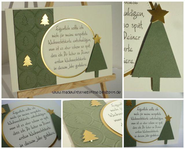made with love by kme: Gratulation zur ersten Weihnachtskarte #2