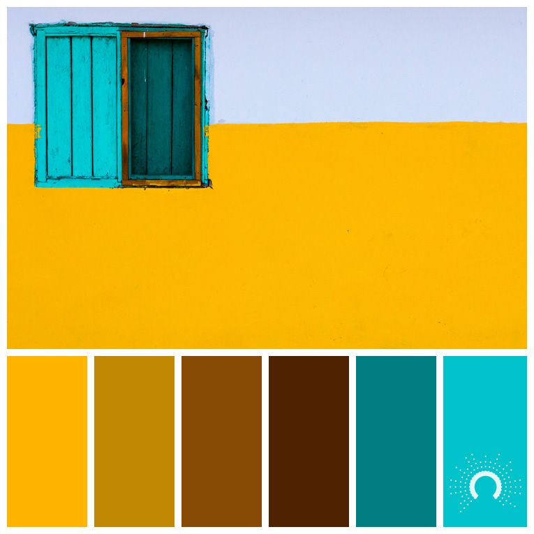 color palette, color combination, Farbpalette, hue, yellow, gelb, turquoise,