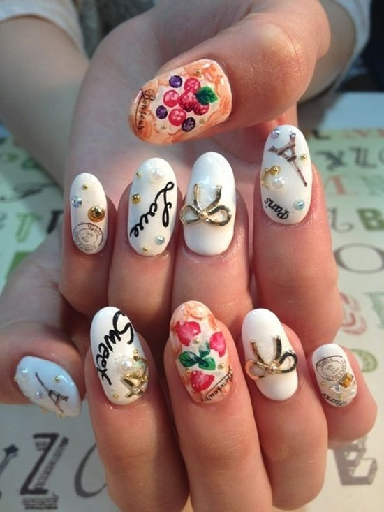 50 Stunning Japanese Nail Art Designs #japanesenailart ...