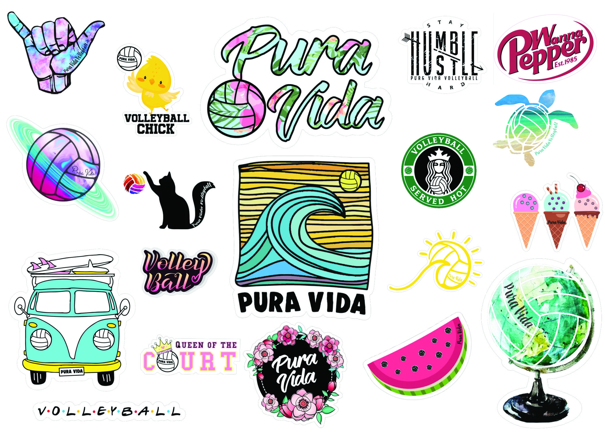 Fun Volleyball Stickers Discount Code Inside Stickers Volleyball Sewing Crafts