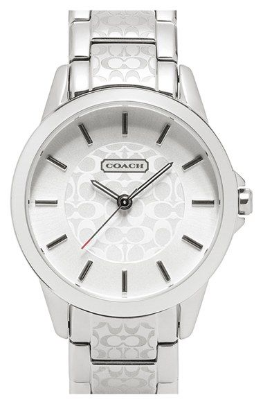 Coach 39 classic signature 39 bracelet watch 34mm regular retail price available at for Retail price watches