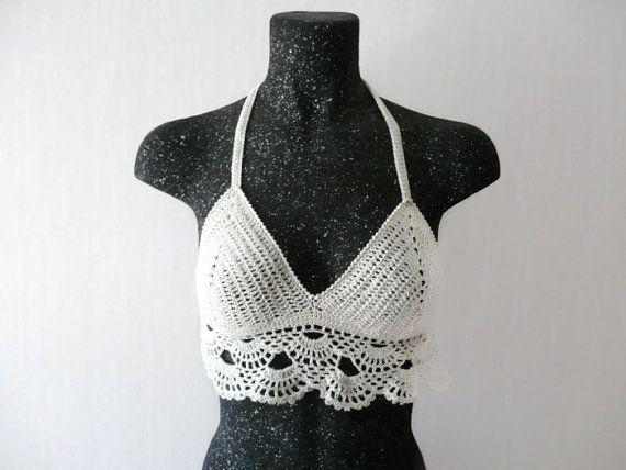 Crochet Top Summer Festival Top Corset Hippie Bustier Knit Sexy