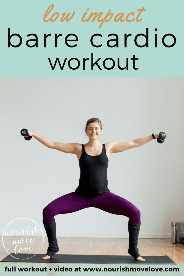 Low Impact Beginner Barre Cardio Workout | Nourish Move Love