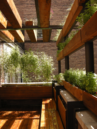 The Little House In The City: Urban Roof Deck By Douglas Fanning