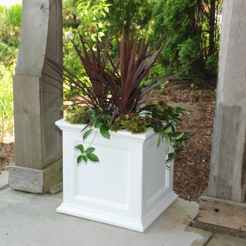 White Outdoor Planters