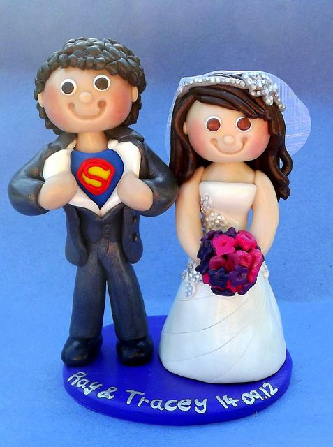 Superman Wedding cake topper by Ama Aqua Cake Toppers - Weddings, birthdays, Chris, via Flickr