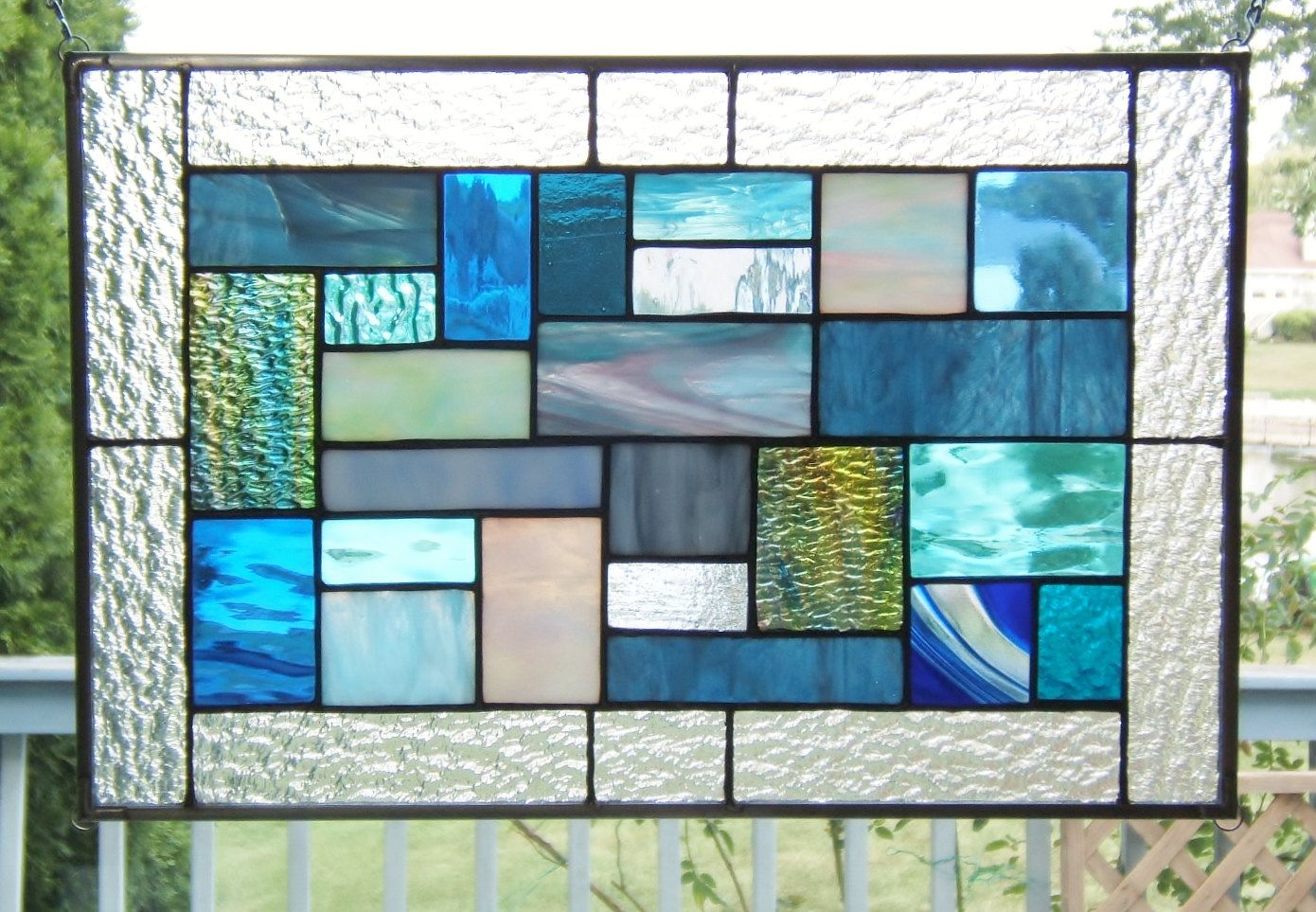 Stained glass window hangings birds inspirational home decor