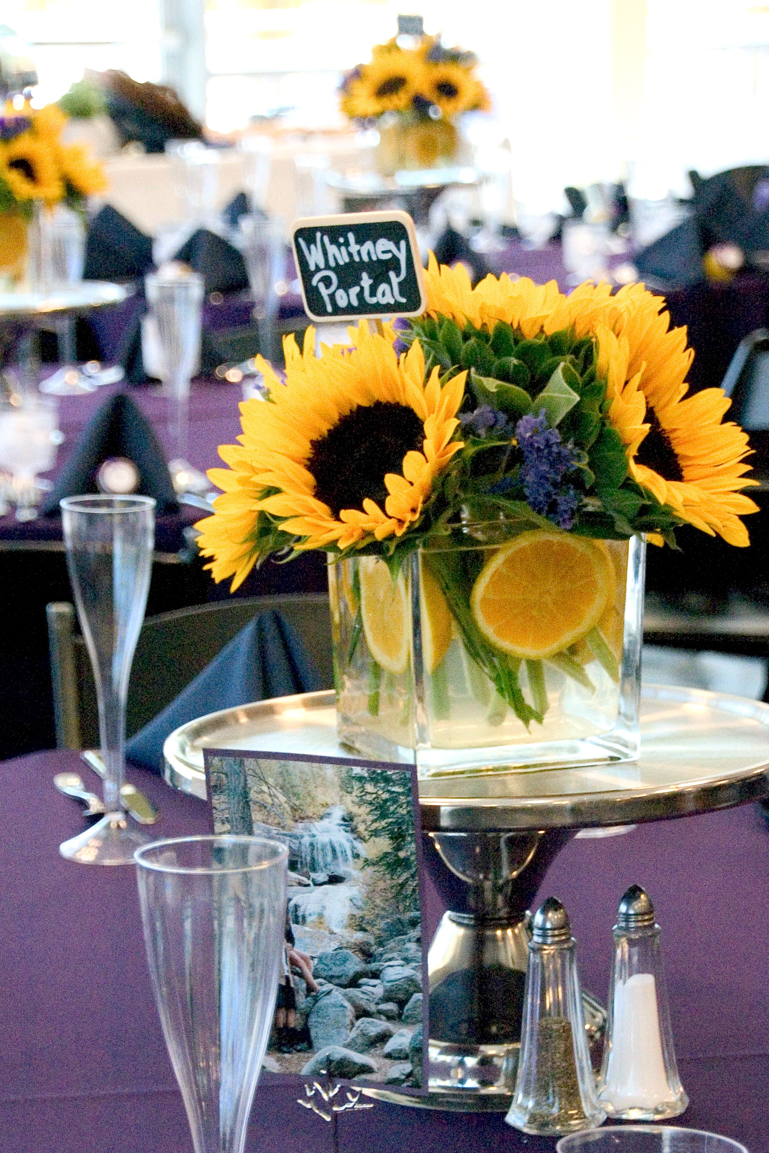 Summer sunflower wedding flowers