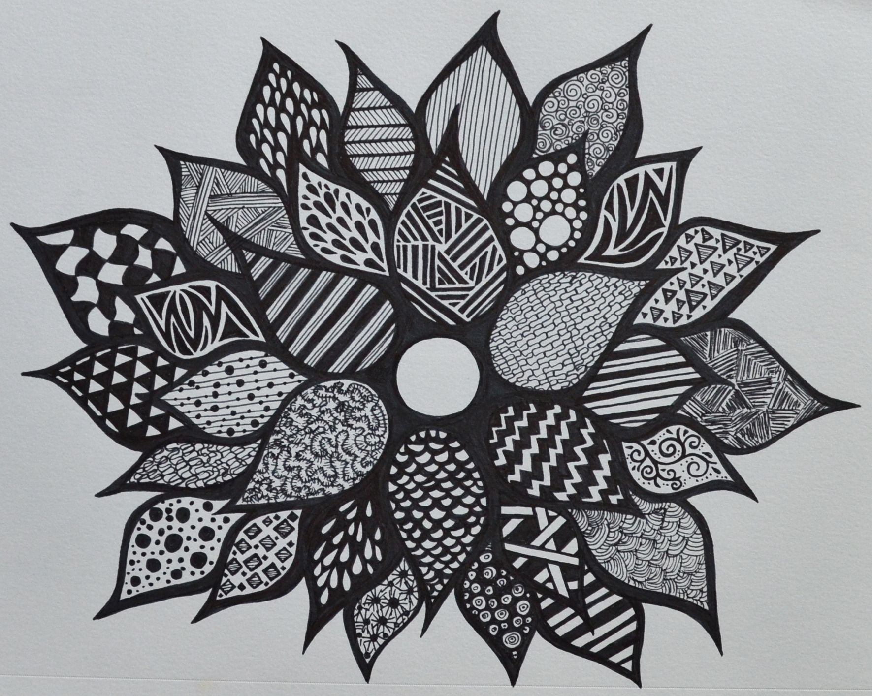 Sharpie flower zentangle SF (With images) Sharpie
