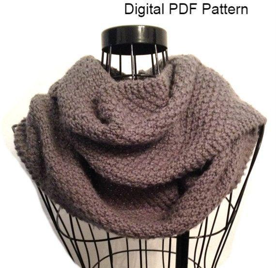 PDF Pattern Knitting Pattern Moss Stitch, Knit Scarf ...