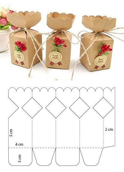 Caja tipo flor para galletas  DiyForYou is part of Paper box template -