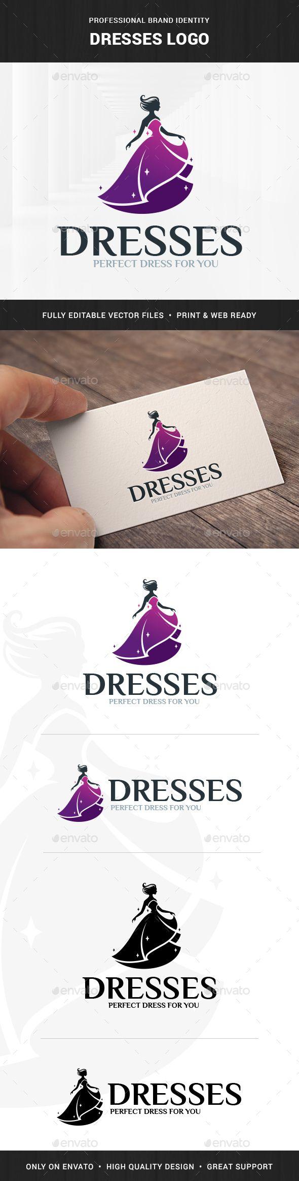 Dresses Logo Template Vector EPS, AI Illustrator Dress