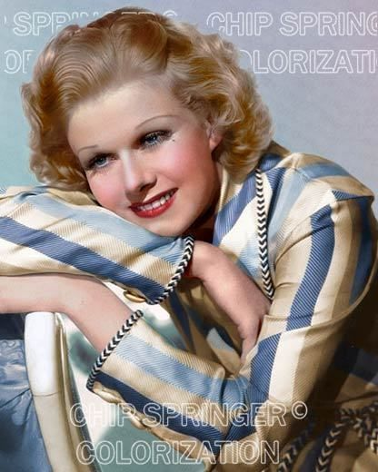 JEAN HARLOW WEARING BLUE STRIPE ROBE 8X10 BEAUTIFUL COLOR PHOTO BY CHIP SPRINGER. Please visit my Ebay Store at http://stores.ebay.com/x5dr/_i.html?rt=nc&LH_BIN=1 to see the current listings of your favorite Stars   now in glorious color! Message me if you would like me to relist your favorites. Check out my New Youtube videos at   https://www.youtube.com/channel/UCyX926rA5x4seARq5WC8_0w