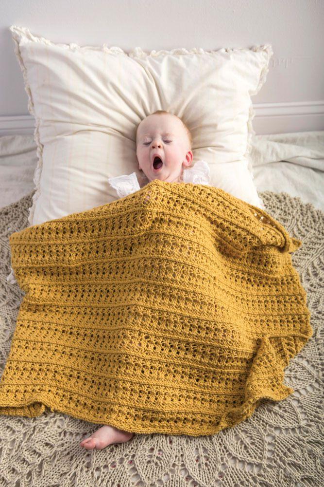 Ivy Blanket in Berroco Comfort - PDF357-1   Baby knitting ...