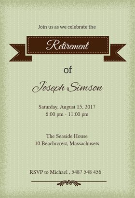 Classic Banner  Free Printable Retirement Party Invitation