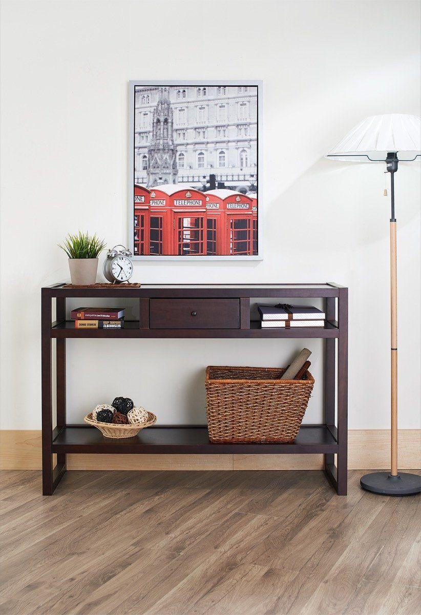 Furniture Of America Bueller Multi Storage Entryway Table Espresso In 2020 Entryway Table Modern Furniture Hallway Furniture