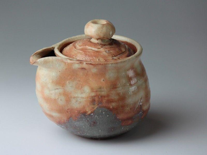 Hagi Yaki Ware Japanese Tea Pot Ayatuti Keizo Kyusu Pottery Tea Strainer 400ml Hagi Tea Pots Pottery